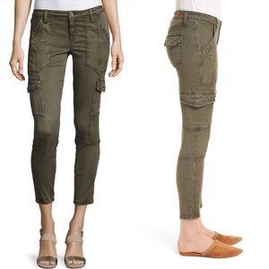 Joie Okana Skinny Cargo Crop Jeans Pants Green 27